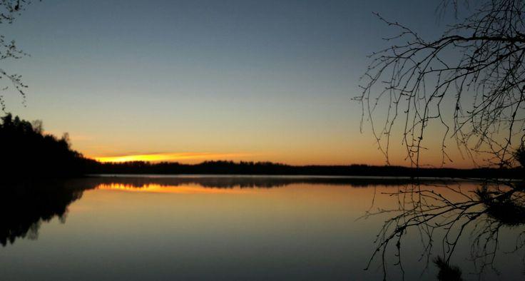 #Puula #lake #spring #night #sunrise #may