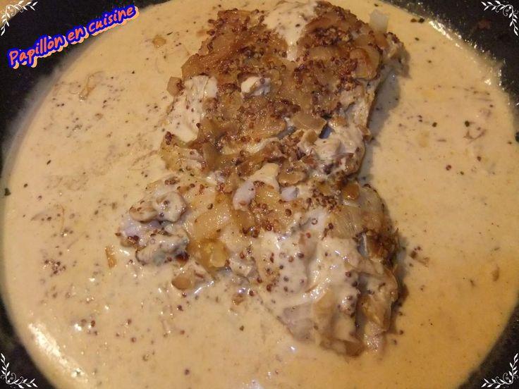 Recette: Filet de lieu noir au curry et sauce moutarde à l'ancienne