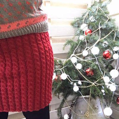 tovepia: Strikket juleskjørt