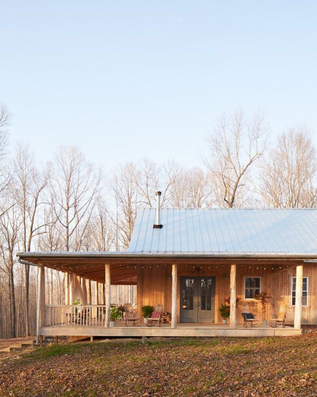 Wrap around porch, country farmhouse.