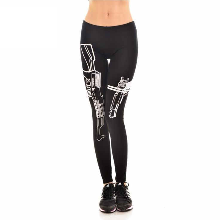 Black & White Guns Leggings ($22USD) - SharezUp donates one clothing piece of your choice to people in need for every sale. Let's #changetheworld together!