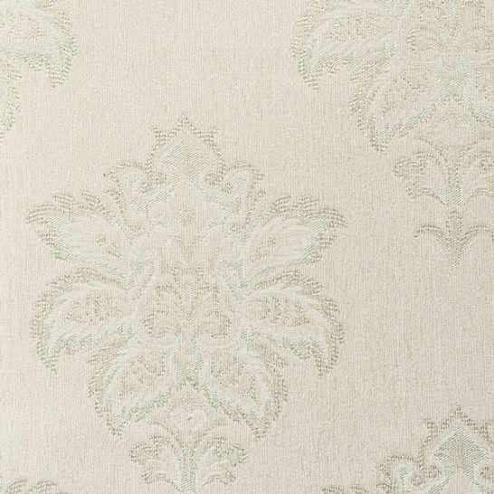 Обои текстильные цвет белый, зелёный 4026 EN классический