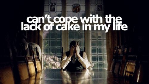 BBC Sherlock sad Mycroft, lack of cake image
