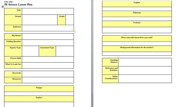 5 e model lesson plan template - the 5e lesson plan model is a great way to organize