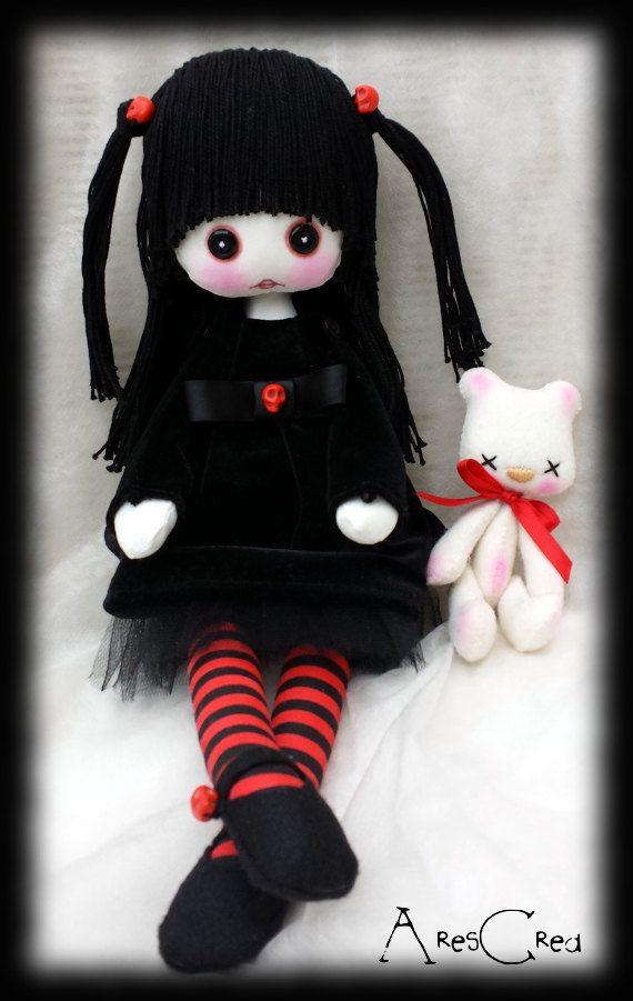 #Creepy #cute #goth cloth #doll Ludmilla #handmade #rag doll by AresCrea