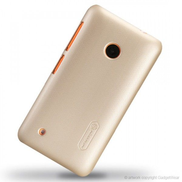 Nillkin Matte Textured Super Shield Hard Shell Case Cover for Nokia Lumia 530 - Gold