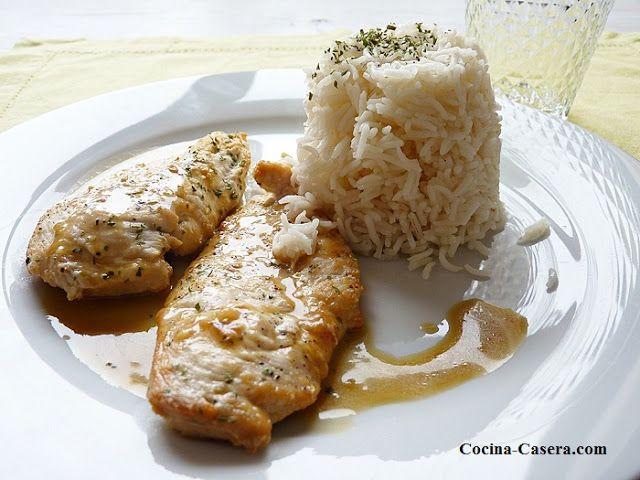 Receta de pechugas de pollo al lim n recetas de primeros platos pinterest salsa - Salsa de pollo al limon ...
