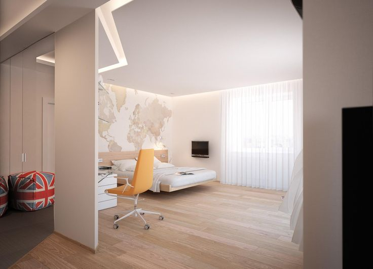 «Northern Europe» Apartments by «Grafit Architects» bureau #apartments #design #interior #bedroom