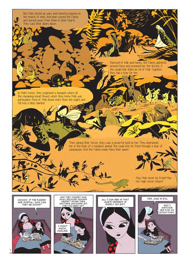 """a Kerascoet """"Beauty"""" page from my """"Seven Outstanding Comics and Cartoon Books of 2014"""" list..."""