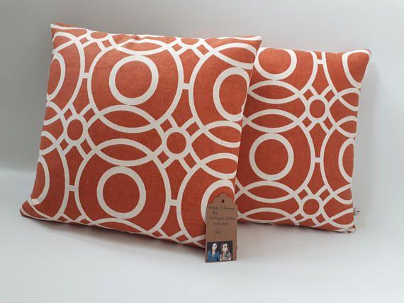Two Ugly Sisters  Decorative Handmade  Geometric Orange
