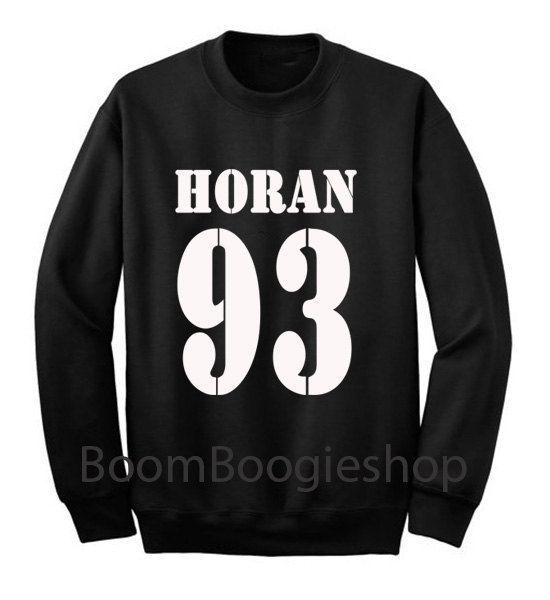 Horan 93 Logo Niall Horan One Direction 1D Black and White Sweatshirt Crewneck Men or Women Unisex Size - Part1