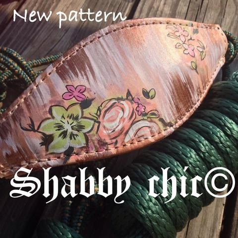 Shabby chic Rope nose bronc halter
