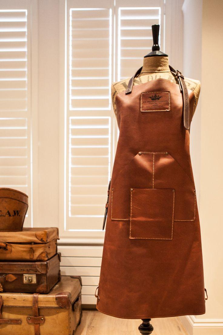 Plain white apron toronto - Full Leather Heavyweight Apron