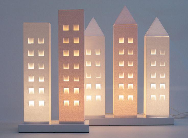 House lights of Finnish carton. Design by Helena Mattila. Made in Finland.