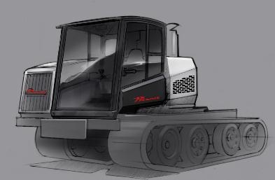 Prinoth Ltd Panther T8 Industrial vehicle by The Creative Unit , via Behance