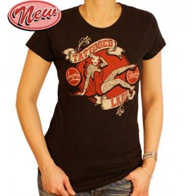 Tattoo Lady  Dolls T-Shirt http://www.tensionwire.com/womens-1/womens-indie-shirts/t-shirts/tattoo-lady-dolls-t-shirt.html
