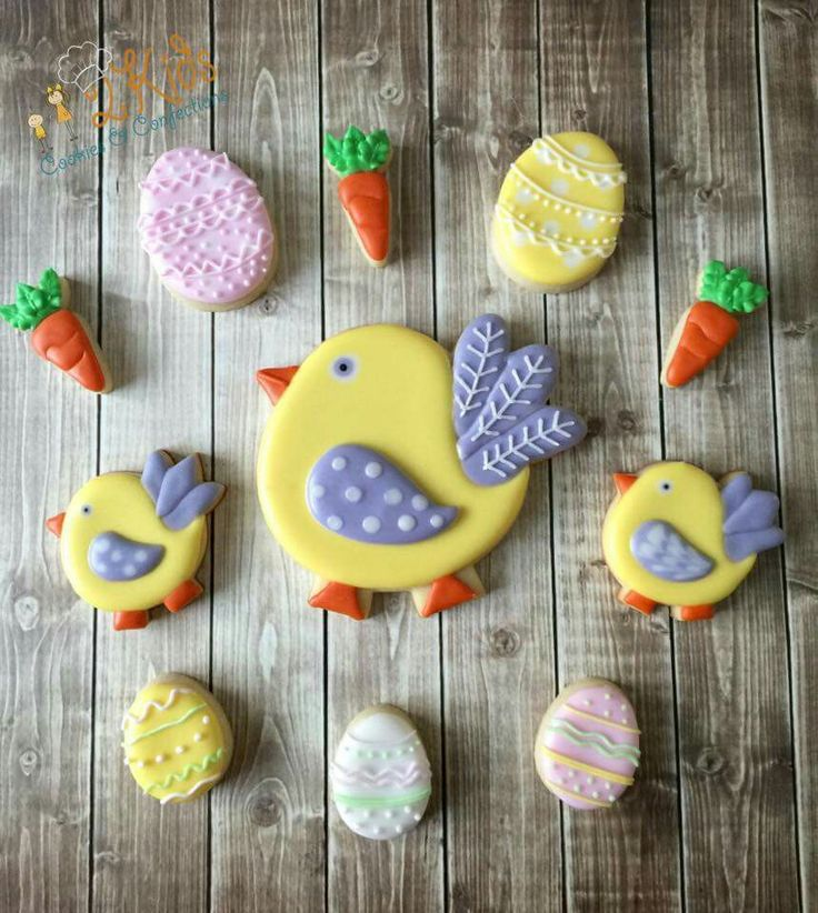 Two Kids Cookies:  Easter.  Cutters from That's a Nice Cookie.