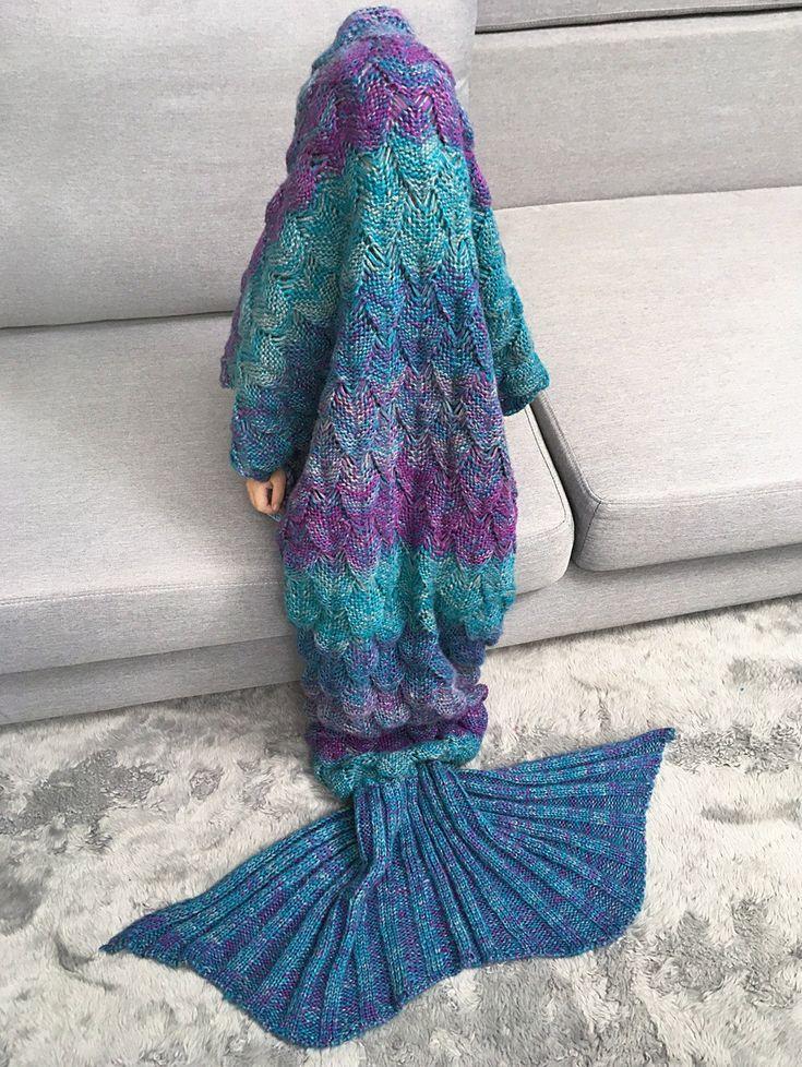 Kids Sleeping Bag Knitted Mermaid Blanket #CLICK! #clothing, #shoes, #jewelry, #women, #men