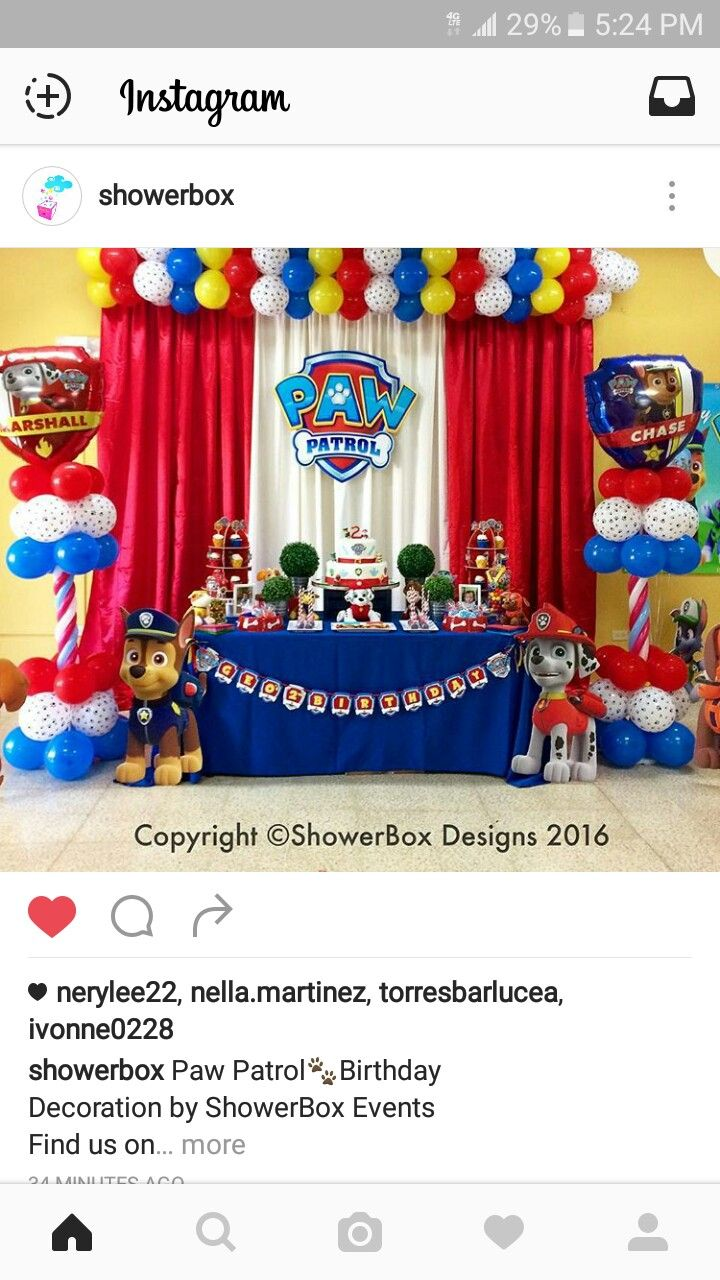 paw patrol party.. just cute!