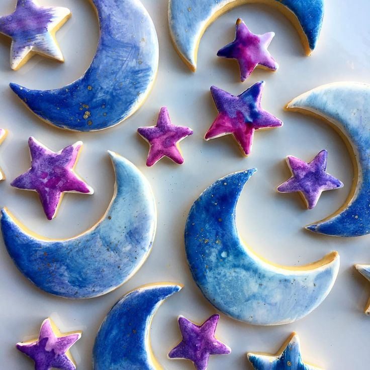 Stars and the moon cookies