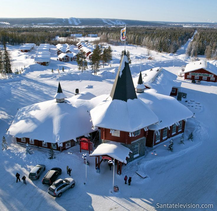 Christmas House in Santa Claus Village in Rovaniemi in Lapland, Finland