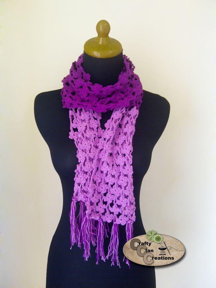 Crochet Violet Scarf