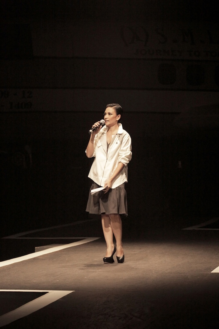 Ata as the MC of our Annual Show wearing (X) S.M.L latest collection.