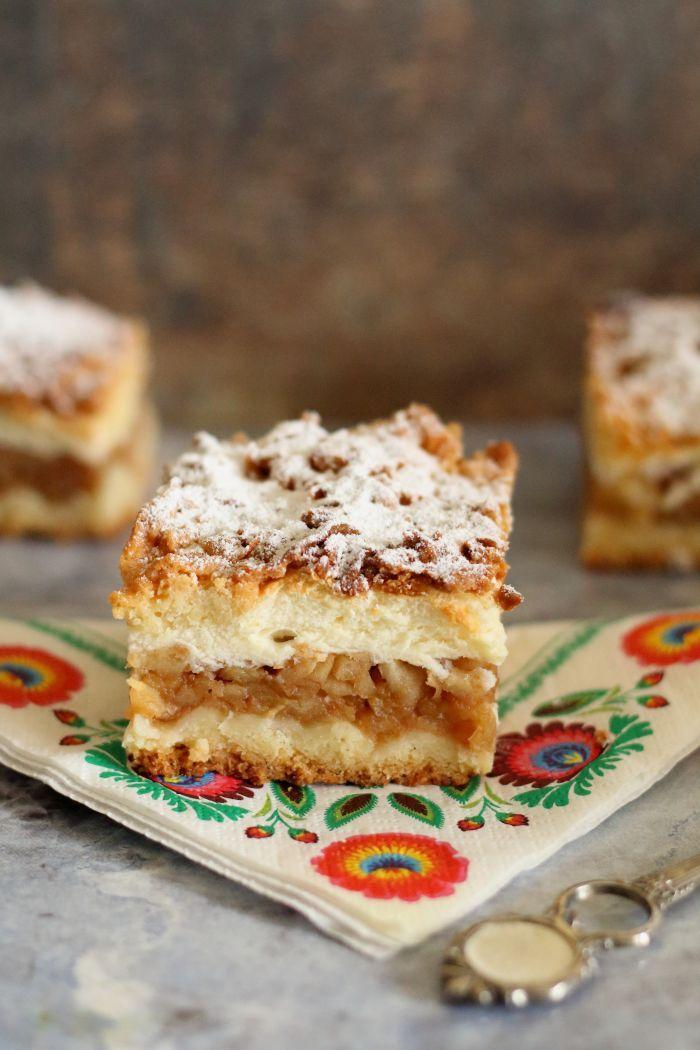 Jabłecznik z budyniem : Jabłecznik z budyniem. Thermomix przepisy. Składniki na ciasto: 500 g mąki pszennej 1 łyżeczka proszku do pieczenia 130 g cukru pudru 200 g masła 2 łyżki g. Przepis na Jabłecznik z budyniem
