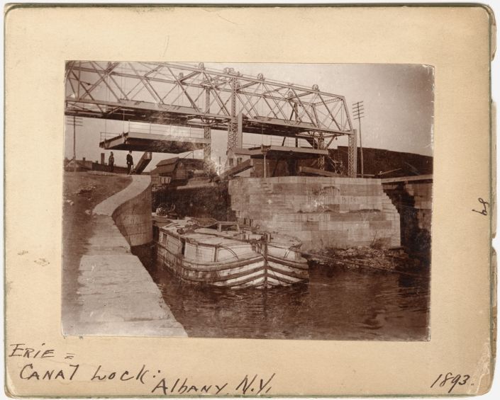 Erie Canal Lock, Albany, N.Y. - Albany Institute of History and Art