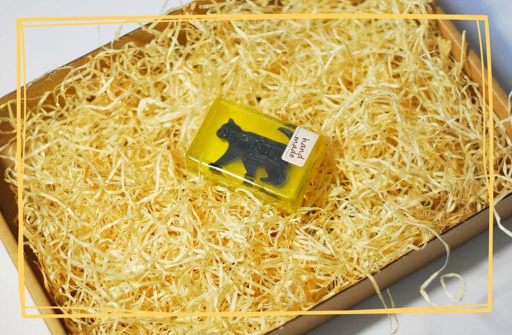 Mydełko z czerwcowego Kota w worku :) #organique #mydełko #mydło #kot #czarnykot #blackcat