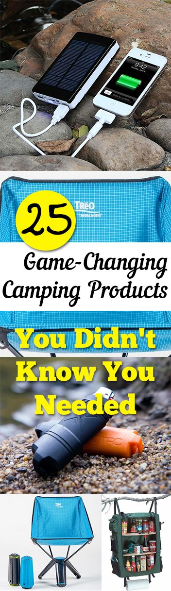 25 Clever items, products and ideas that are amazing for camping