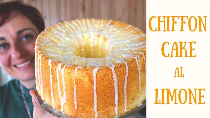 CHIFFON CAKE AL LIMONE Ricetta Facile - Glazed Lemon Chiffon Cake Easy R...
