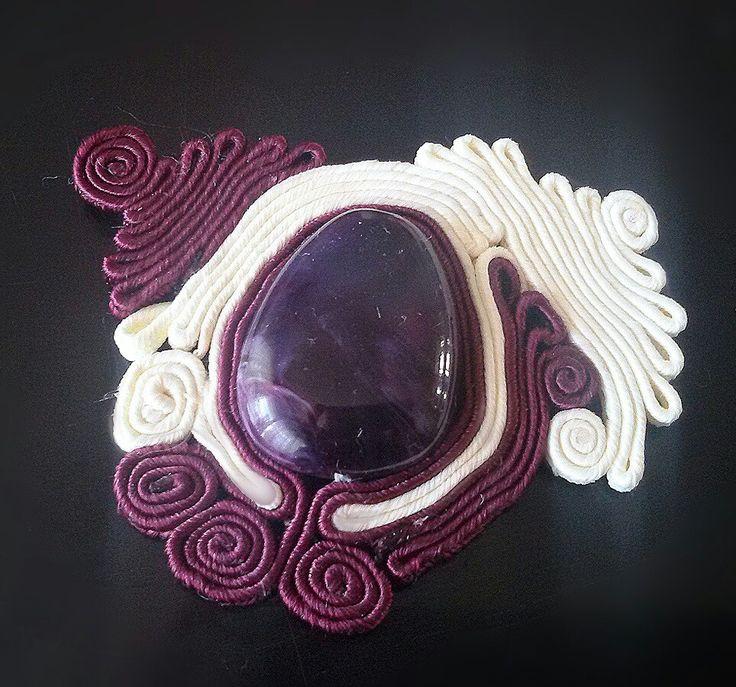 My handmade soutache necklace... work in progress..