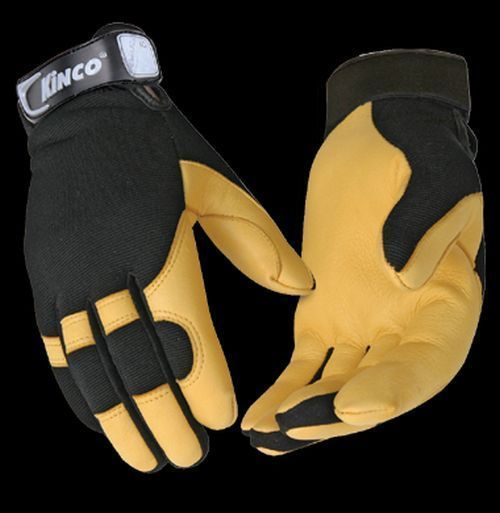 Kinco 101 Mens Deerskin Leather Work Gloves Unlined Farm Garden Ranch  S,M,L,XL