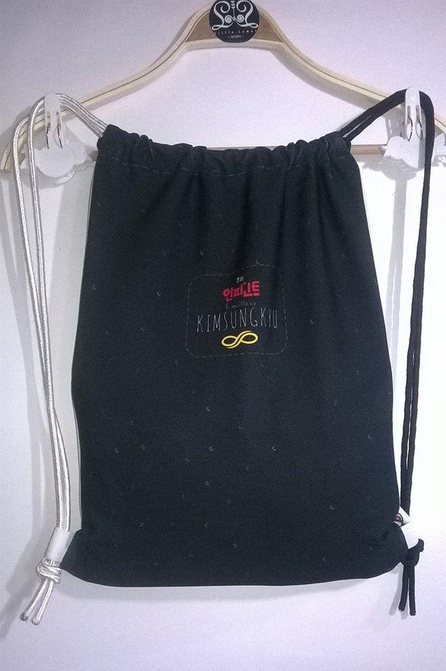 Drawstring Bag INFINITE (Back View)