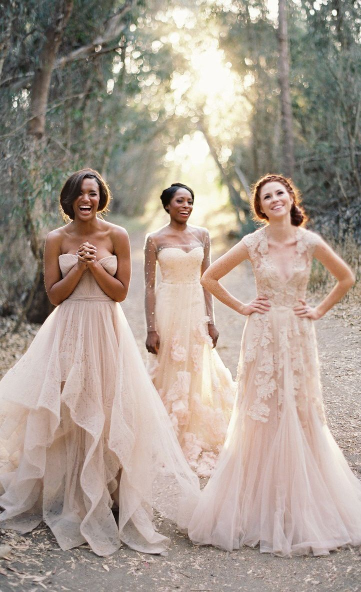 Blush Pink Gold Wedding Inspiration Dress Pinterest Dresses And Bridesmaid