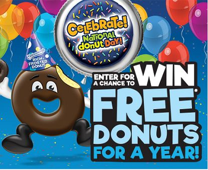 Entenmann's National Donut Day 2017 Sweepstakes - http://freebiefresh.com/entenmanns-national-donut-day-2017-sweepstakes/