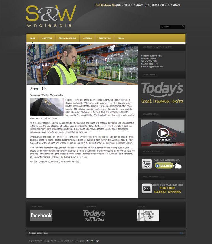 Savage & Whitten- three60design Banbridge Northern Ireland - Web Design