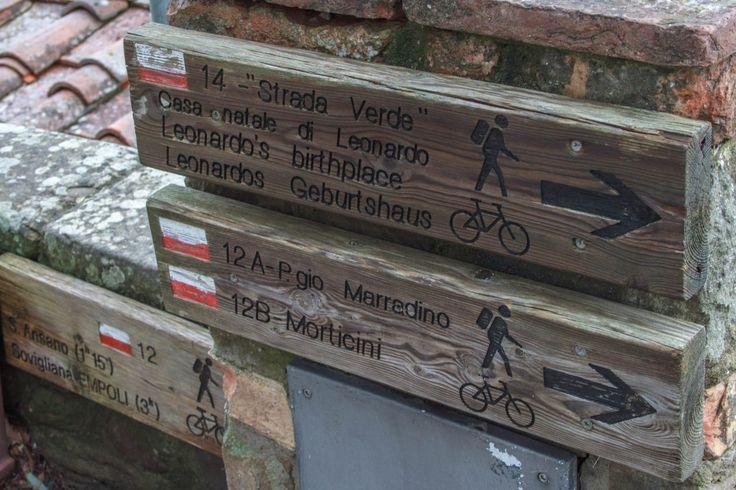 day trip to Vinci, Leaonardo's birthdplace  Vinci - Strada Verde