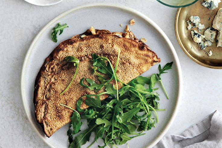 Recipe: Buckwheat galettes stuffed with blue cheese | Style at Home