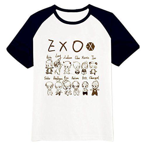 Fanstown EXO kpop logo black shoulder shirt EXO M EXO K ... | 500 x 500 jpeg 24kB