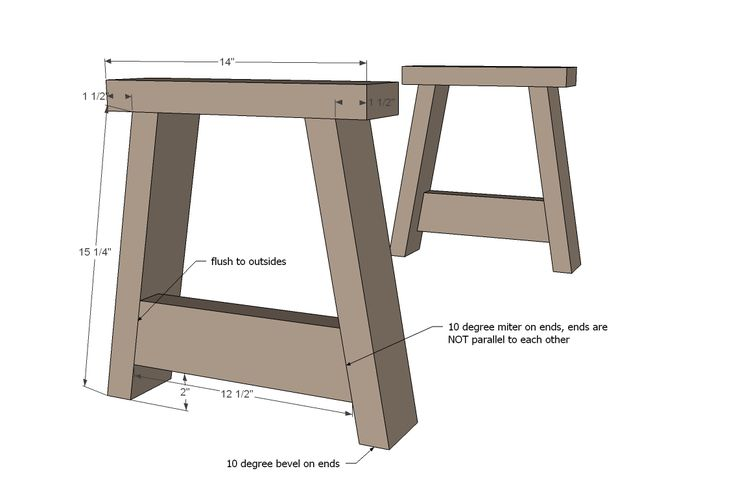 Ana white build a providence bench free and easy diy for 2x4 stool plans