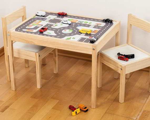 Latt Ikea Table hack-- car mat     Furniture sticker Small City for IKEA LÄTT 1M-ST01-03 by Limmaland