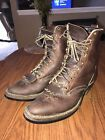 WHITES Mens Cowboy Packer Brown Oil Tanned Leather Western Boots Size 10E #boots
