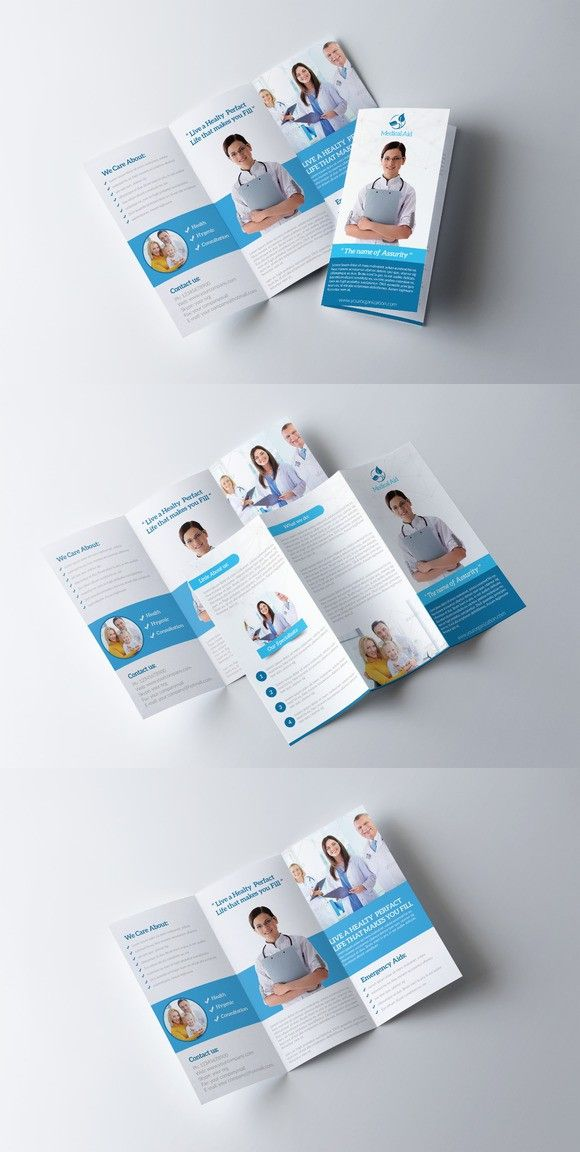 Medical Trifold Brochure Template 30 best Medical