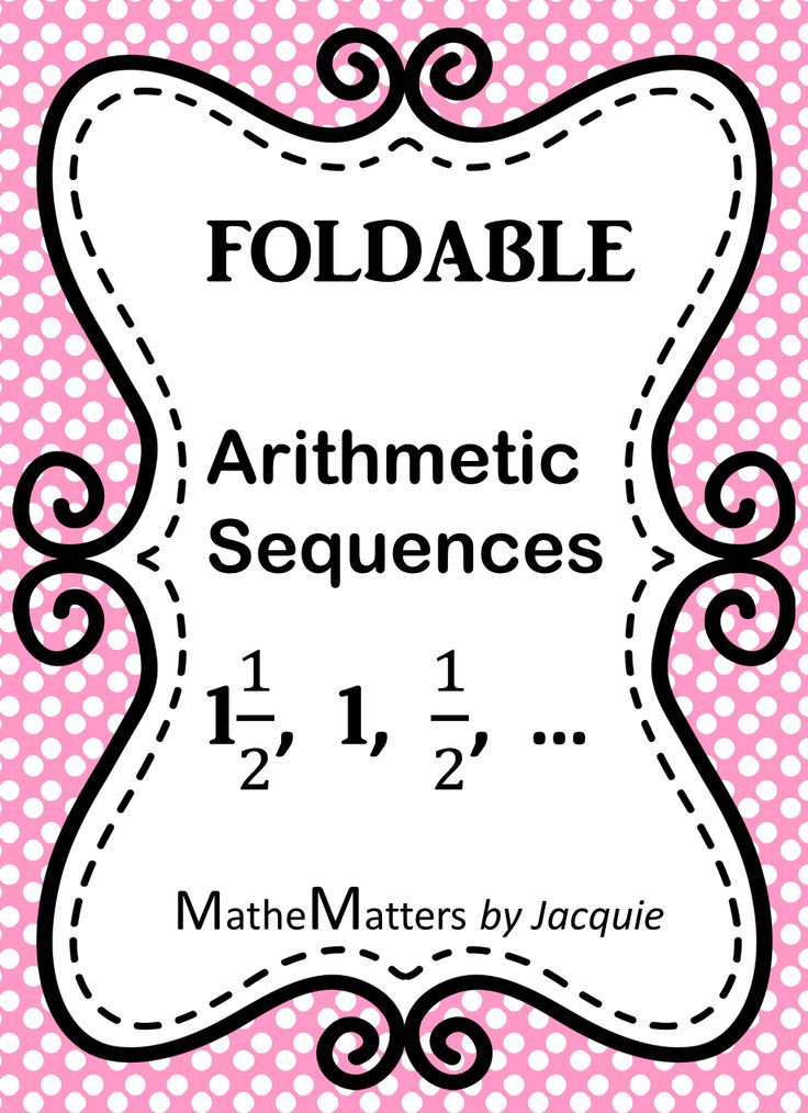 11 best Arithmetic Sequences images on Pinterest Arithmetic - arithmetic sequence example