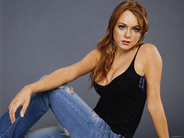 Spread Eagle Girl Lindsay Lohan Wallpaper Full Hd