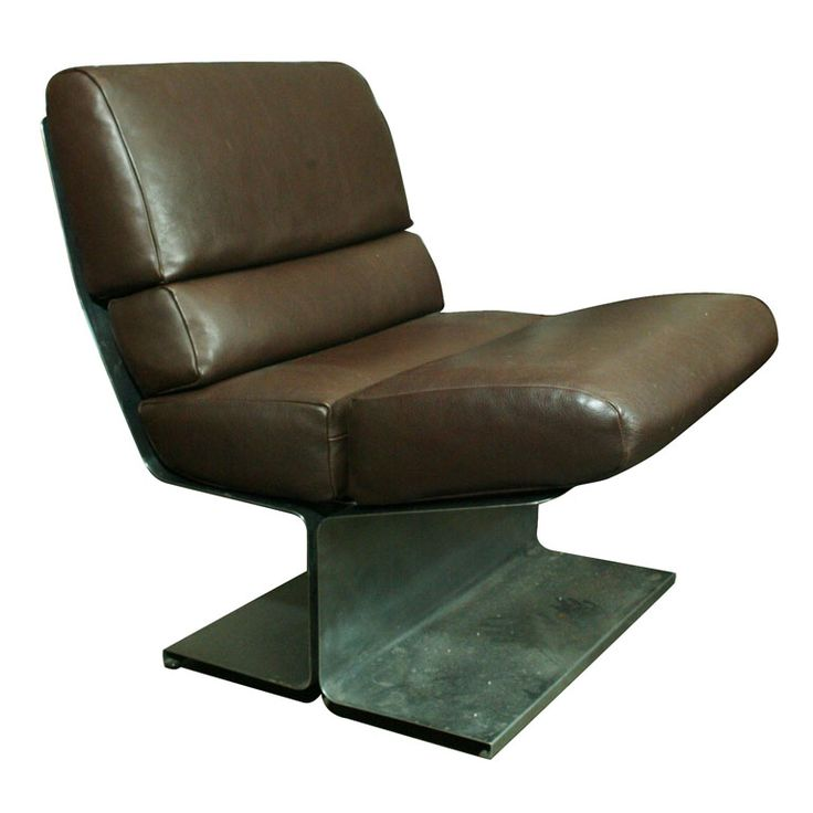 1stdibs.com | Marcel Gascoin Steel and Leather Chair