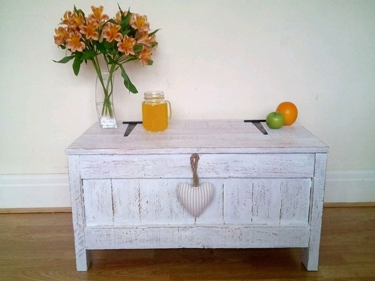 White Vintage Wooden Blanket Box Coffee Table Storage Box Solid Chest Handmade in Home, Furniture & DIY, Furniture, Trunks & Chests | eBay