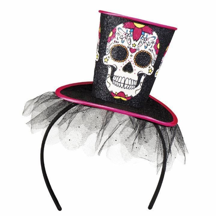 Day of the Dead Top Hat on Headband Halloween Fancy Dress in Clothes, Shoes & Accessories, Fancy Dress & Period Costume, Accessories | eBay!